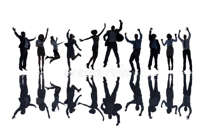 Group of Business People Celebrating royalty free illustration