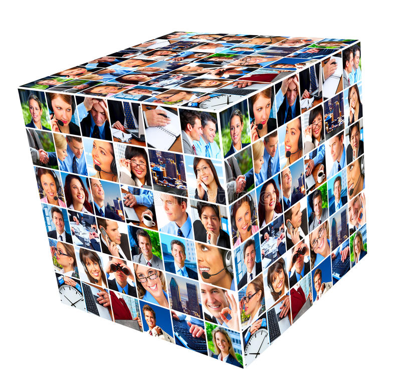 Group of business people collage. stock images