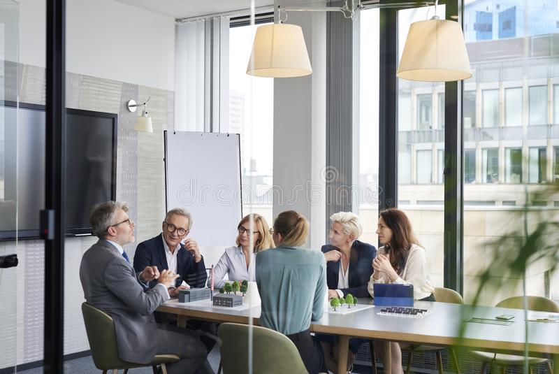 Group of business people in the conference room royalty free stock photos