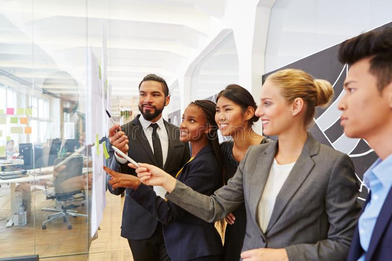 Group of business people in consulting workshop royalty free stock images
