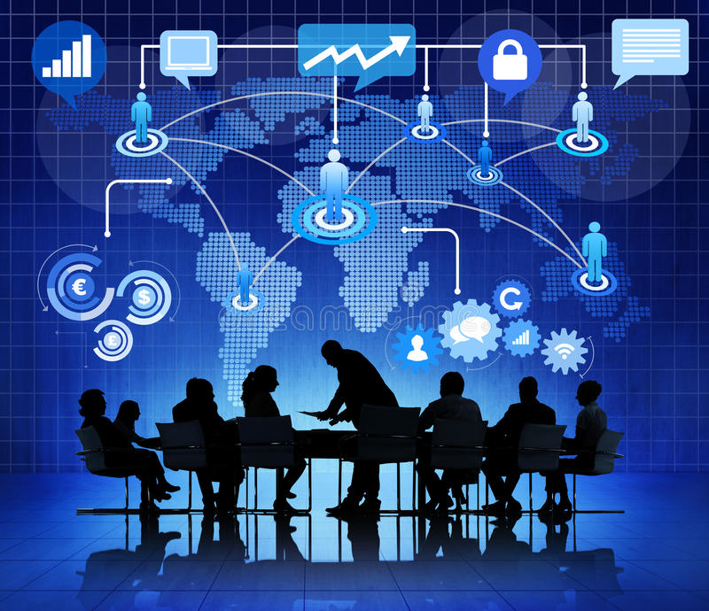 Group of Business People Global Communications.  stock image