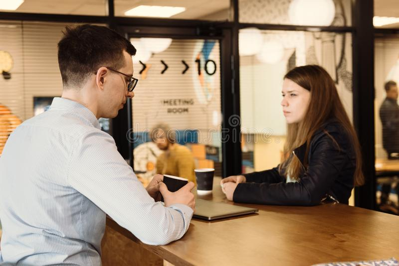 Group of business people having discussion in the office stock photos