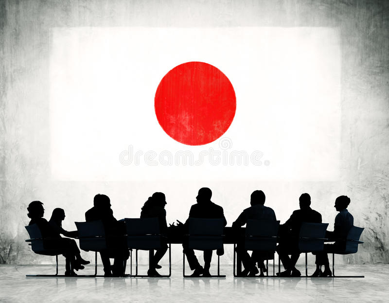 Group of Business People Having a Meeting royalty free stock photos