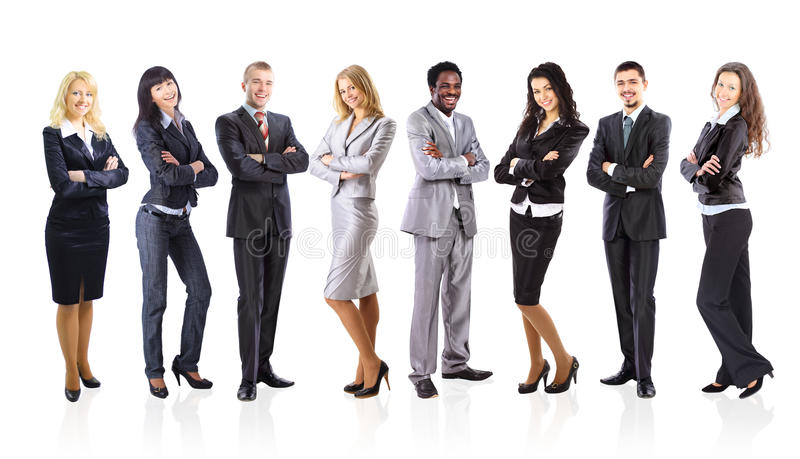 Group of business people isolated royalty free stock photo