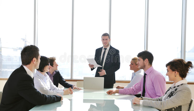 Download Group Of Business People At Meeting Stock Photography - Image: 19669292