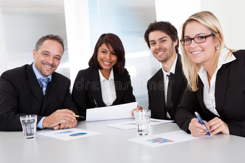 Download Group Of Business People At The Meeting Stock Photo - Image: 25759754