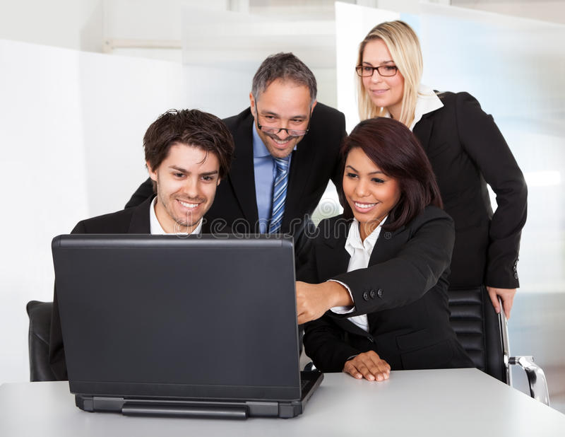 Group of business people at the meeting royalty free stock photography