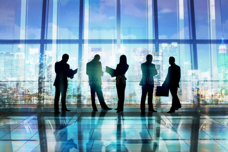 Group of Business People in an Office Building stock image