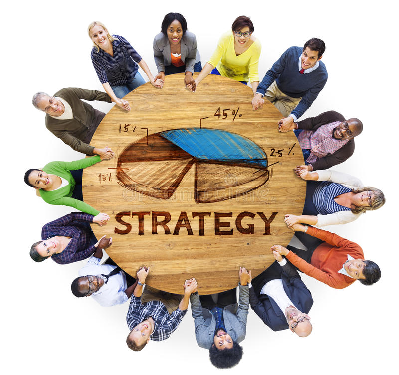 Group of Business People Planning Strategy stock images