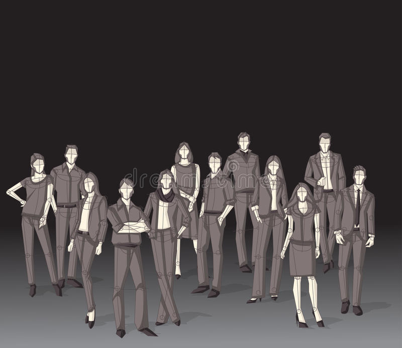 Group of business people. royalty free illustration