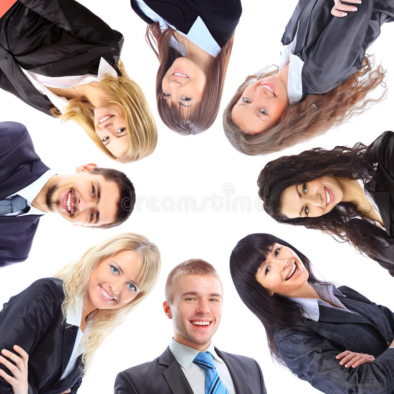 Download Group Of Business People Standing In Huddle Stock Photo - Image: 23120774