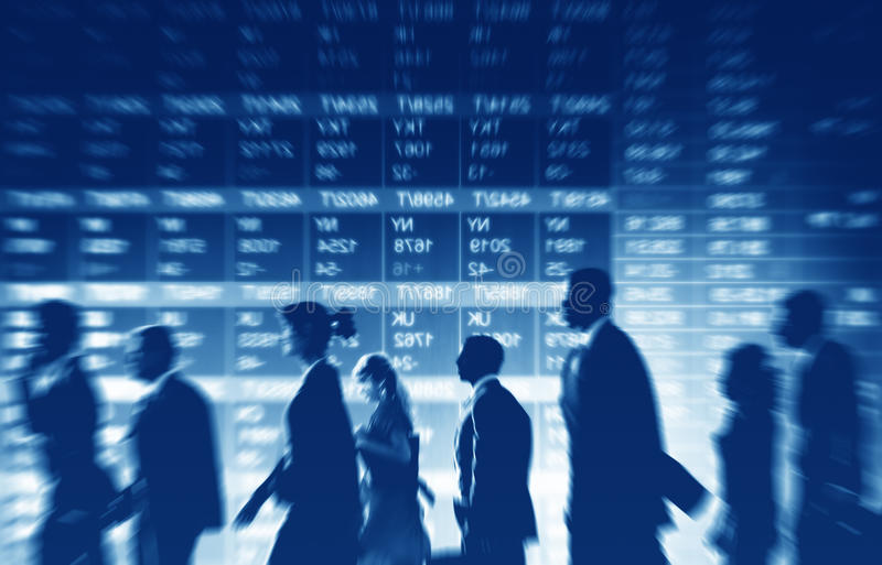 Group of Business People Stock Market Concept stock photo