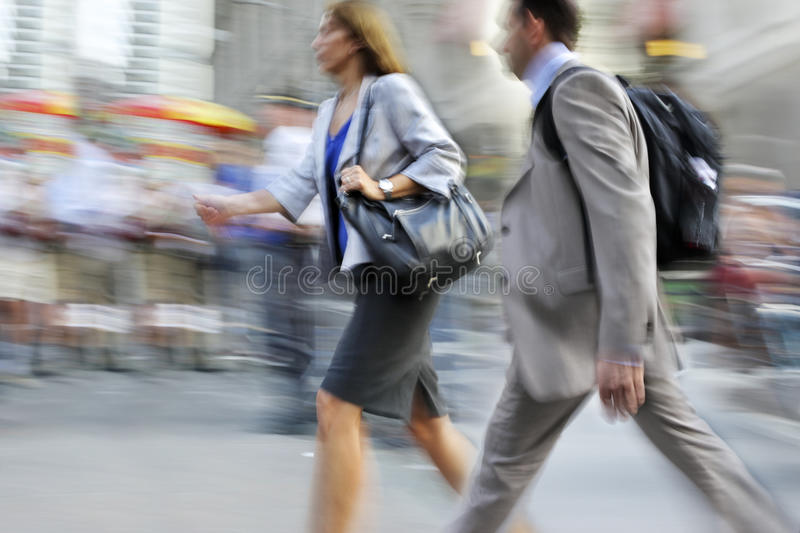 Group of business people in the street royalty free stock photo