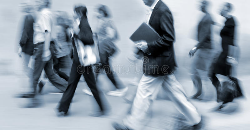 Group of business people in the street royalty free stock image
