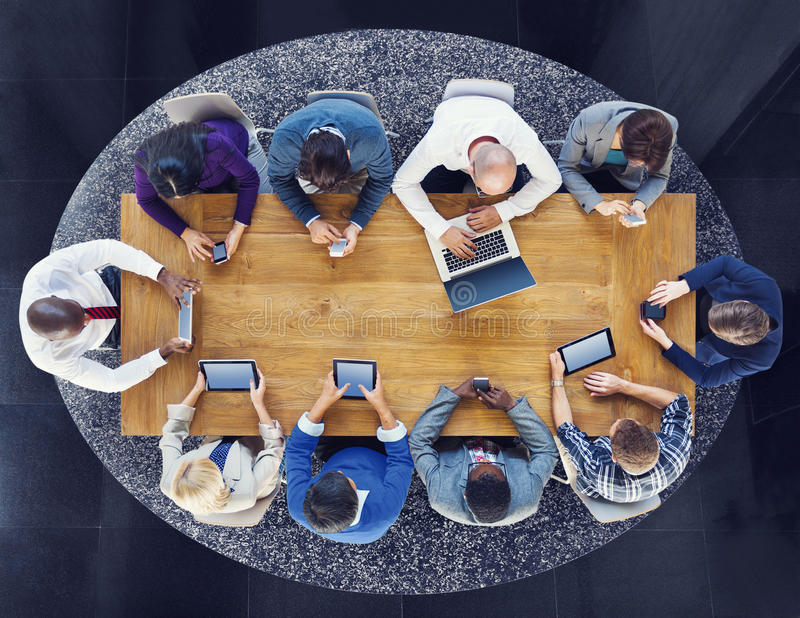 Group of Business People Using Digital Devices.  royalty free stock photos