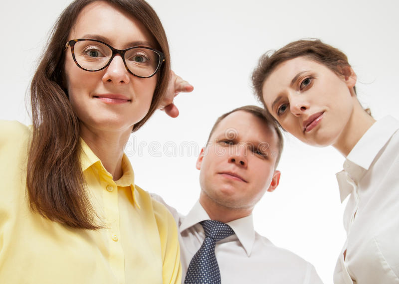 Group of business people. White background stock photos