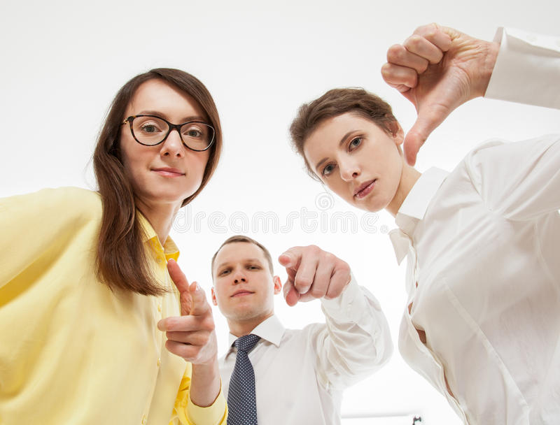 Group of business people. White background stock images
