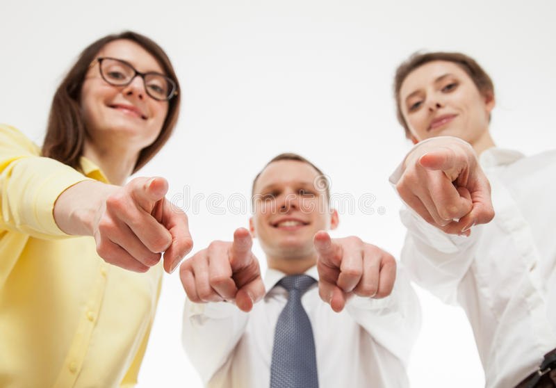 Group of business people. White background royalty free stock images