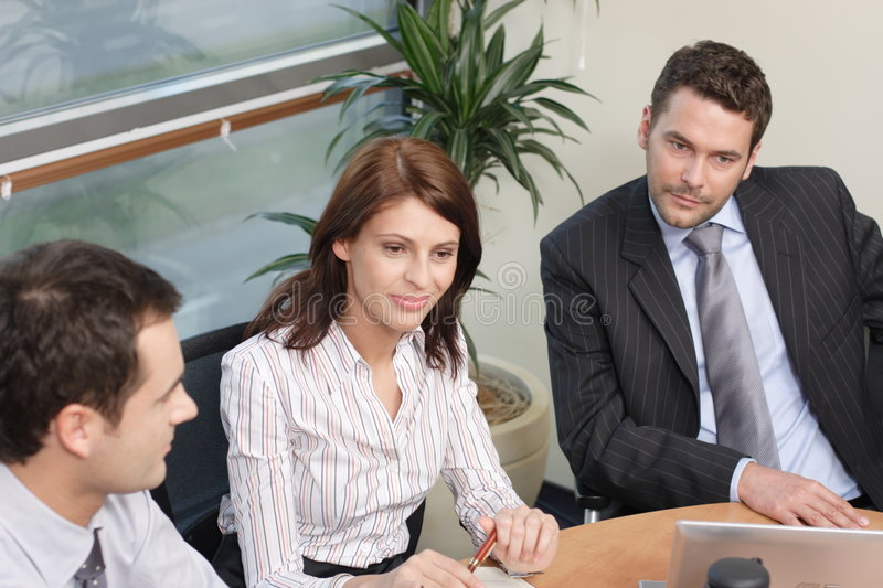 Group of business people working on project royalty free stock photos