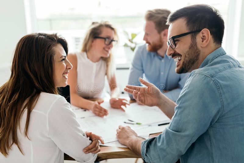 Group of architects and business people working together and brainstorming. Group of business people working together and brainstorming stock images