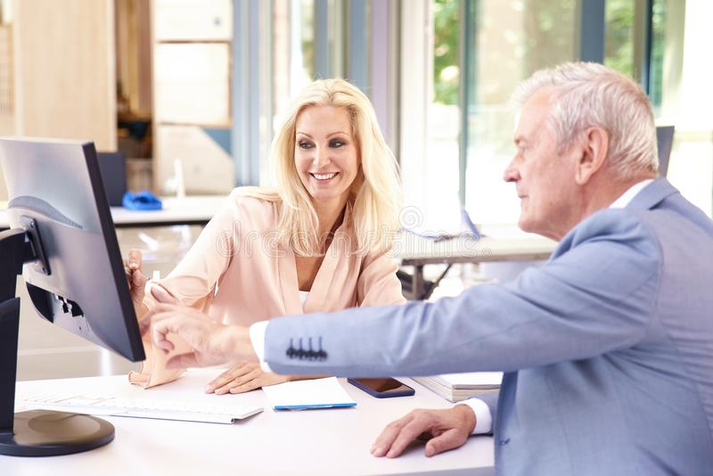 Business meeting in the office royalty free stock photography