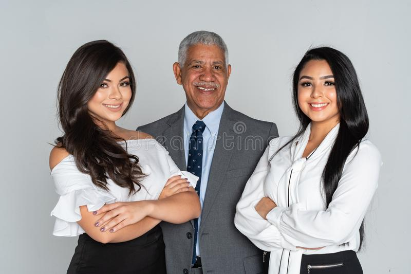 Group Of Business Team Members Working royalty free stock photo