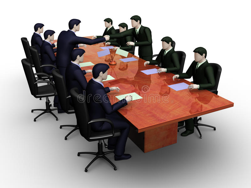 Group of businessmans on informal business me stock illustration