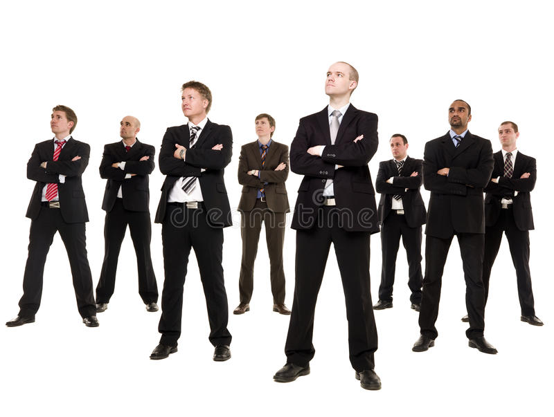 Group of businessmen royalty free stock image