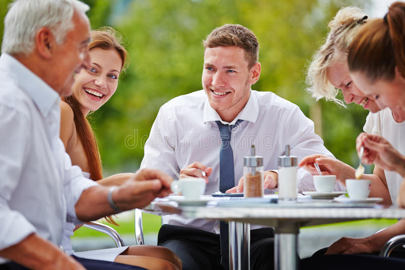 Group of businesspeople having meeting stock photos