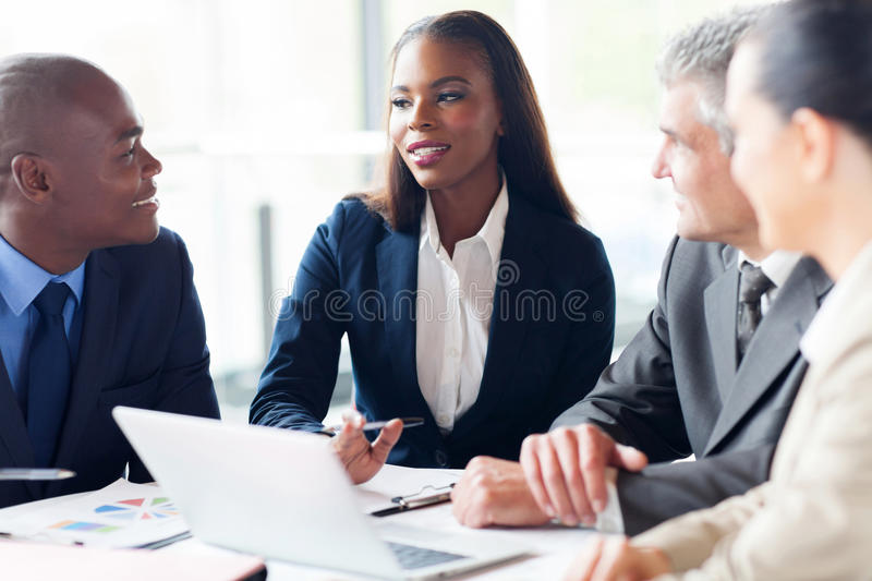 Group businesspeople meeting stock image