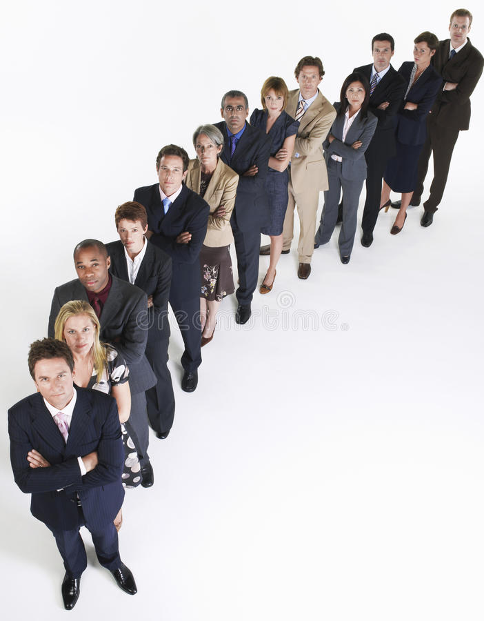 Group Of Businesspeople In Row stock photography