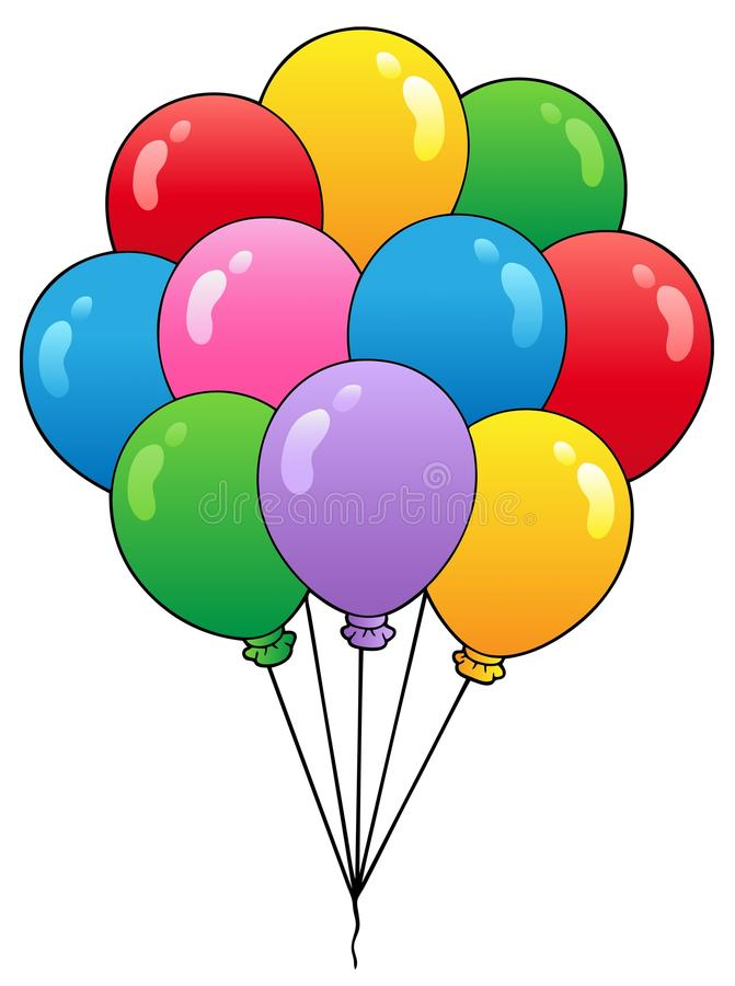 Download Group Of Cartoon Balloons 1 Royalty Free Stock Images - Image: 18896719