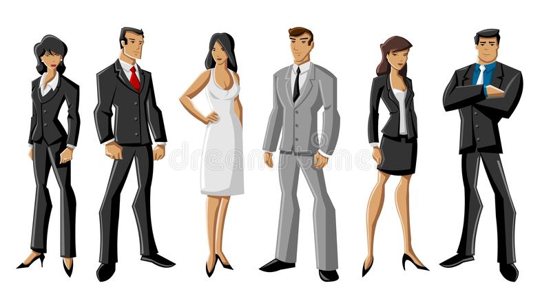 Business people royalty free illustration