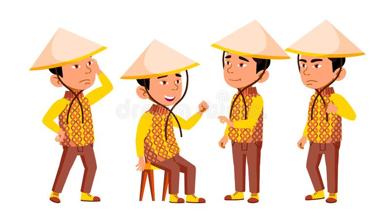 Group Of Character Vietnamese Children Vector stock illustration