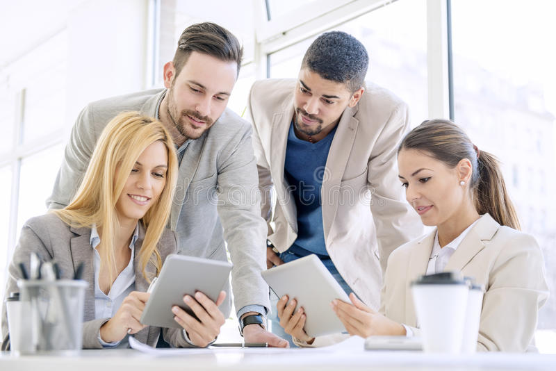 Group of cheerful business people stock photography