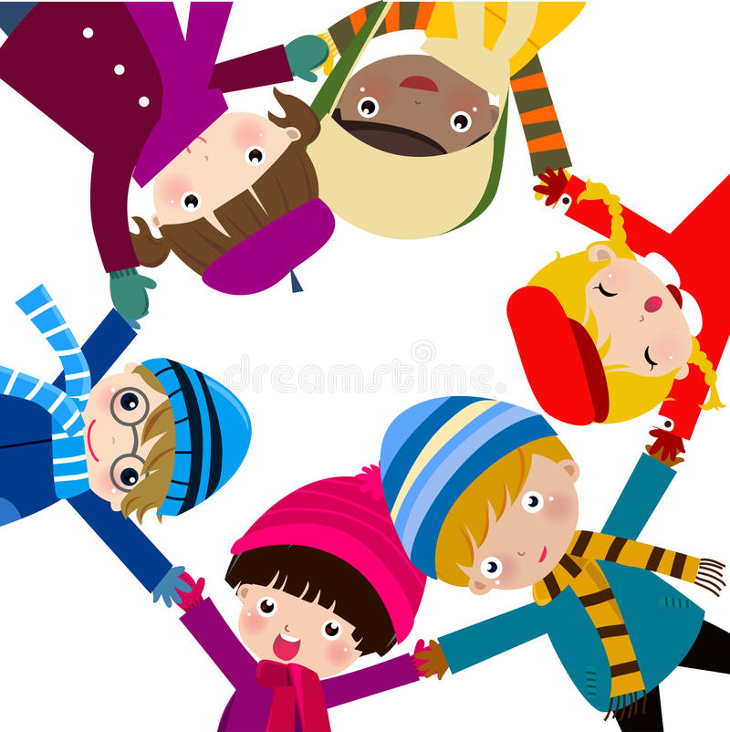 Group of children vector illustration