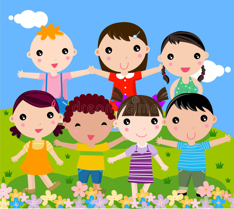 Download Group of children stock vector. Image of colorful, graphic - 15196480