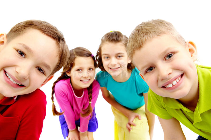 Download Group of children stock image. Image of caucasian, expression - 18591521