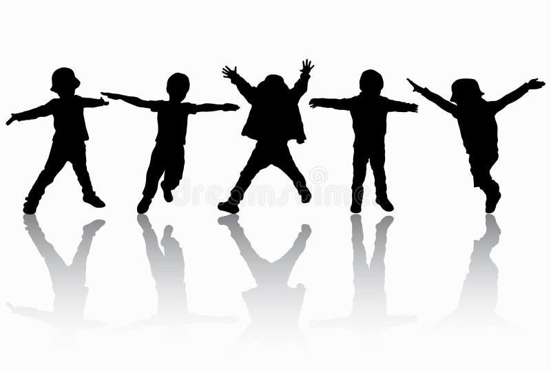 Group of children. Happy kids stock illustration