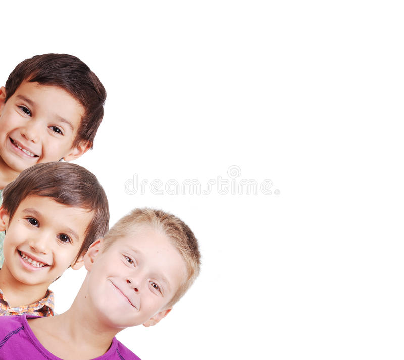 Group Of Children Isolated Royalty Free Stock Images
