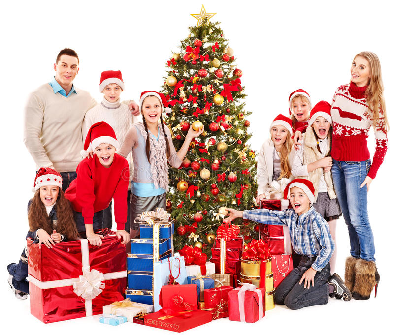 Download Group Of Children With Santa Claus. Stock Photo - Image: 27677474