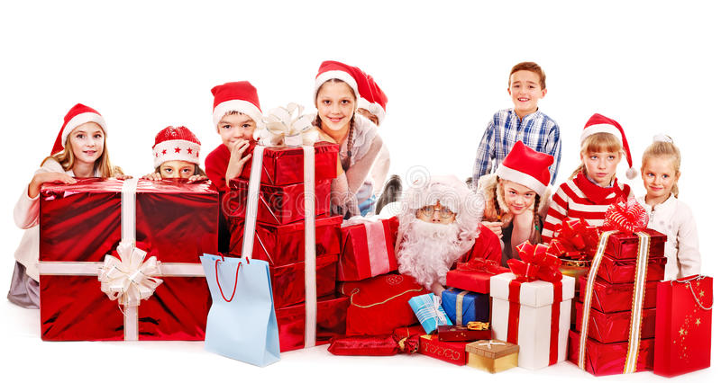 download group of children with santa claus stock photo image of december friendship - Santa Claus Children