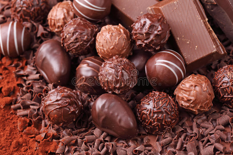 Group of chocolate stock photos