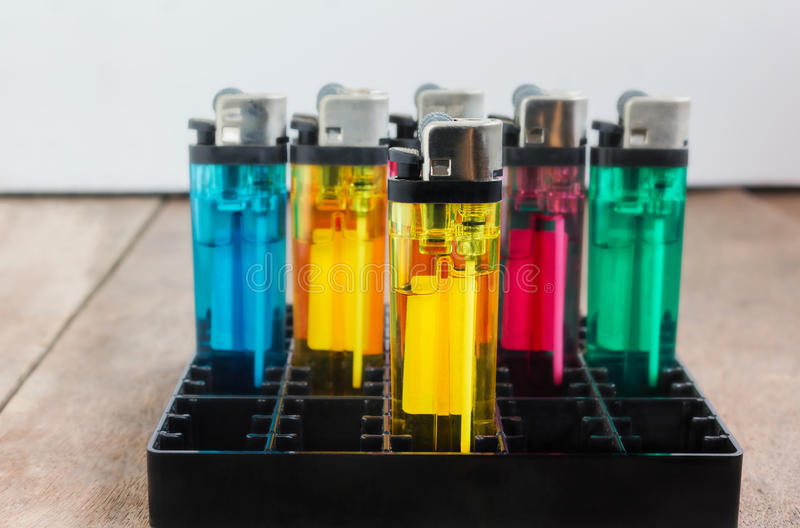Group of cigarette lighter royalty free stock image