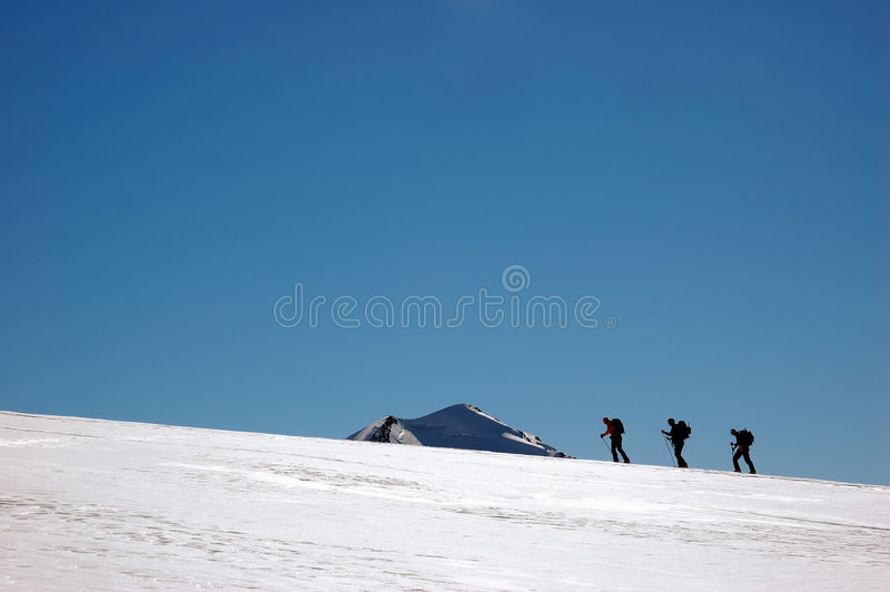 Group climber royalty free stock image