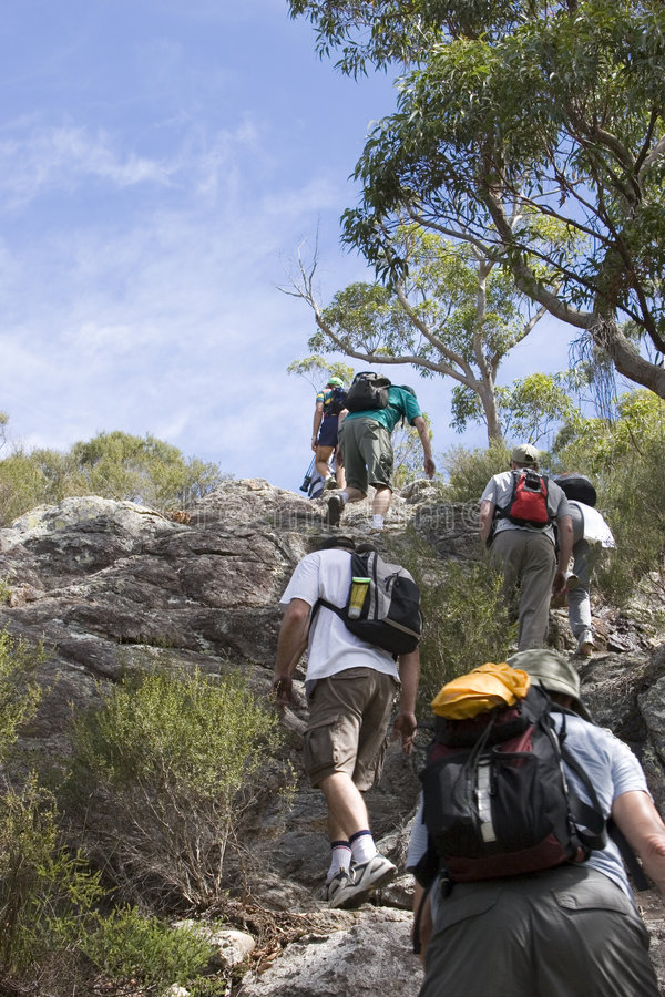 Free Group Climbing Mt Maroon 2 Stock Photography - 656782