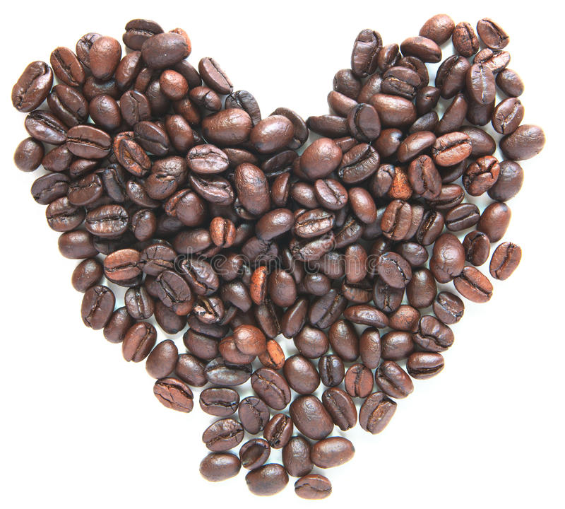 Download Group Of Coffee Bean Seed  Like A Heart Form Stock Photo - Image: 26607340