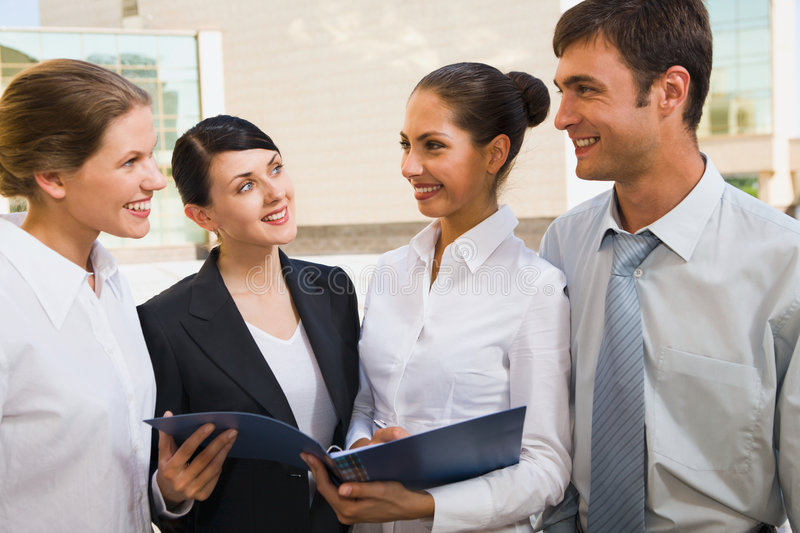 Download Group of colleagues stock photo. Image of building, happy - 2843340