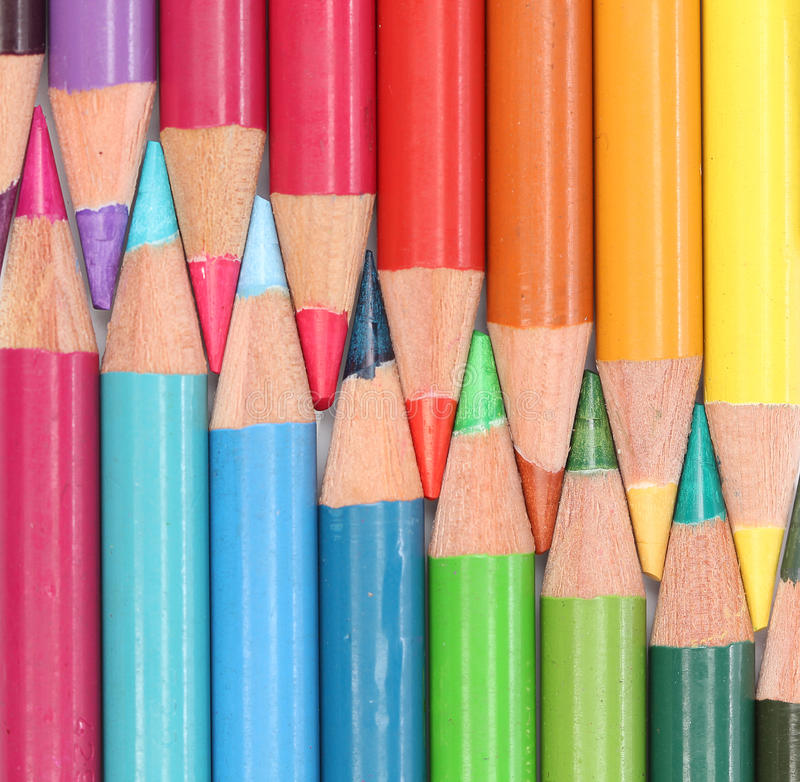 Download Group of color pencils stock image. Image of wood, color - 24310831