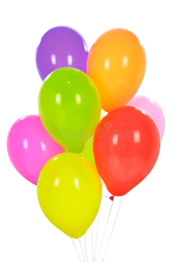 Group of colorful balloons royalty free stock photo